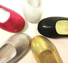 Women's Loafer Ballerina Sparkle Sandals Casual Ladies Flat Dance Shoes Sz 5-10