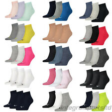 PUMA Sports Socks - Unisex Quarter Quarters 3P - Three Pair Packs Of Plain/Mix
