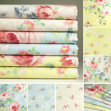 6 Fat Quarters o 1 yard 100% Cotton Fabric 3 Colors Floral Print Sewing K M-255