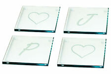 4 Personalised Glass Coasters Engraved With Your Initials Fathers Day Daddy Gift