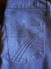 7 SEVEN for all MANKIND DOJO White Jean w Crystals NWT $225 S 25 26  27  28 30