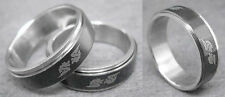 R054P Stainless Steel Spin Ring Dragon Black You Pick Ring Size