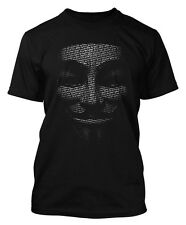 ANONYMOUS T-SHIRT V FOR VENDETTA MASK MENS WOMENS WE ARE THE 99% T SHIRT DTG2