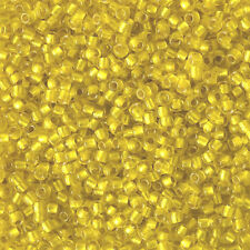 Toho Round Seed Beads 11/0 - #32F- Citrine S/L Matte - 15 or 45 grams