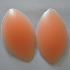 PAIR OF SILICONE GEL BRA BREAST ENHANCER PADS CHICKEN FILLETS INSERTS