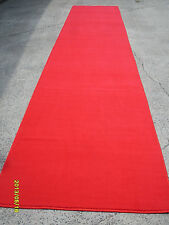 Red Carpet Runner Plain area rug Wedding Party Heat Set Nylon Diff sizes New