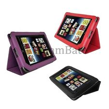 Red Black Purple Leather Case Cover for Barnes Noble Nook Tablet/ Nook Color