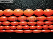 Natural Coral Gemstone Rice Loose Beads Orange 16'' Inches Strand
