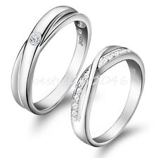 Silver Infinity Ring Blossom Couples Wedding Band Ring for Engagement , Promise