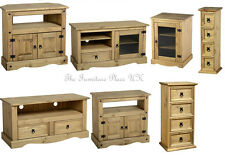 Solid Waxed Pine 2,4 Dr CD Chest Entertainment,Corner TV Unit