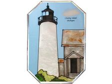 Lighthouse #5 7x10 Hand Painted Stained Art Glass Window Suncatcher