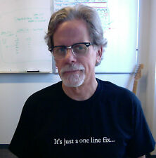It's just a one line fix… T-Shirt Programming Coding QA Funny Wry C# Java Ruby