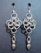 Goddess Chainmail Earrings Chain Maille Wicca SCA Pagan Ecclectic Chainmaille