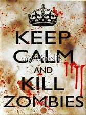 Keep Calm and Kill Zombies Quilting Fabric Block