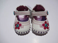 THE CHILDRENS PLACE DRESS SHOES WHITE/PINK FLOWER SIZES 0-3 AND 3-6 MONTHS NWT