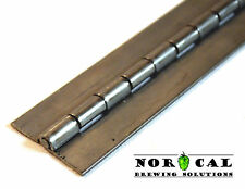 """304 Stainless Steel PIANO / BOAT HINGES 1-1/4"""" Wide 1/8"""" Pin Sold by the Inch"""
