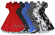 Womens Plus Size 1940's 1950's Classic Rockabilly Full Circle Dress New 18 - 26