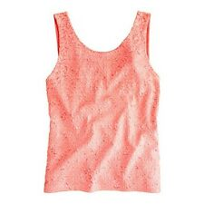 J. CREW Heathered Sequin Tank Top - Neon Peach - Coral- $128 -Many Sizes -27745