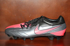 New! Mens NIKE T90 LASER IV FG Soccer Cleats Dark Grey/Black/Solar Red