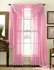 "SHEER / SCARF Window Treatments Curtains Drape Valances 63"" 84"" 95"" BABY PINK"