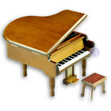 Wooden Sankyo Piano Wind up Music Box with More than 30 Melodies Choice (Brown)