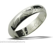 Name Ring / Promise Ring - High Polished / Stainless Steel--Personalized Free!