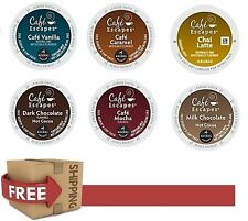 NEW Cafe Escapes You Pick The Flavor & Size Keurig Coffee k-cups