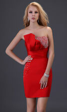 Sequins Prom party cocktail Evening Dress Bridesmaid Formal Short Gown