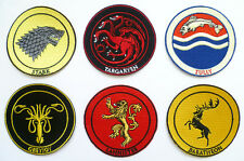 GAME OF THRONES House Sigils Iron Sew On Patch Stark Lannister Cosplay Badge