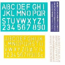 STENCIL ALPHABET LETTERS STENCILS NUMBERS LETTERING NUMERALS UPPER LOWER CASE