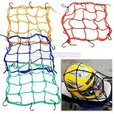 UN3F 30*30cm Motorcycle 6 Hooks Hold Down Fuel Tank Luggage Net Mesh Web Bungee
