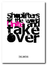 THE SMITHS -Shoplifters Of The World Unite - poster typography print - 4 sizes