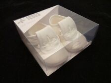 BABY BOY CHRISTENING SHOES BY PEX  LOUIS  WHITE OR IVORY FIRST CLASS POST