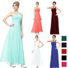 New One Shoulder Bridesmaid Evening FormalParty Cocktail  Dress Gown 09596