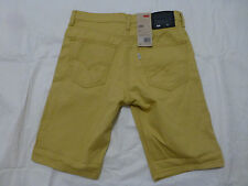 NWT MENS LEVIS 508 REGULAR TAPER DENIM JEAN SHORTS $54 YELLOW 31858-0013