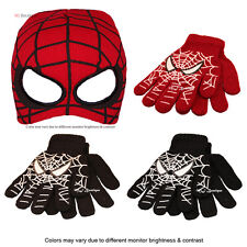SPIDERMAN kid BEANIE MASK GLOVES kid teen young-adult gift halloween costume