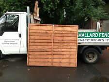Overlap heavy duty fence panels