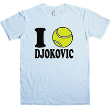 New Mens T Shirt -  I love Djokovic T Shirt