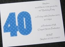 Personalised Birthday Party Invitations & Thank You Cards - Male/Female -ANY AGE