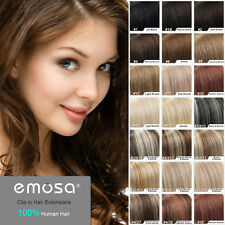 Emosa Straight Full Head Clip In Remy Human Hair Extensions Natural Human Hair