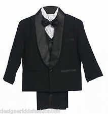 BY09 BoyTuxedo with straight satin lapel black suit  ALL SIZE S TO 20