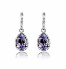 18K White Gold Plated Crystal Earrings made with Swarovski Crystals