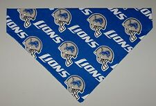 NFL Detroit Lions Dog Bandana Scarf – Slide over Collar – Size Small to X-Large