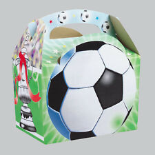 Football Sport Boys Childrens Kids Food Loot Meal Birthday Party Bag Carry Boxes