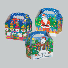 Christmas Xmas Snow Childrens Kids Dinner Table Food Party Bags Carry Boxes