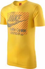 Men's New Nike Vintage, Retro  'Coaster' Track and Field' T-Shirt / Top - Yellow