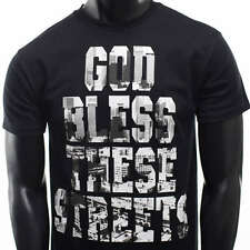 New Mens streets express HIP HOP god bless these streets 50 cent Rap T-shirt