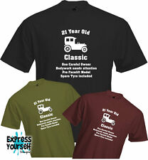 21 YEARS OLD - ONE CAREFUL OWNER, 21st BIRTHDAY T Shirt, Present, Quality, NEW