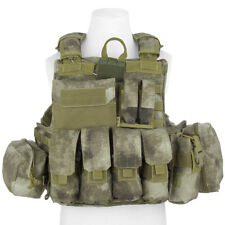 FLYYE FORCE RECON COMBAT VEST ver. MARITIME + POUCHES ARMY MOLLE A-TACS AU CAMO