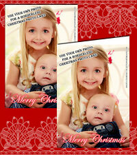10 Personalised Christmas Greeting Cards Thank You Notes Full Photo OWn Photo